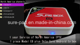 Android TV Box Canadian IPTV Smart TV Box E8 Plus RAM 3GB Ota Update Octa Core Amlogic S912 TV Box Dual Band WiFi
