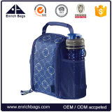 Portable Office Insulated Lunch Cooler Bag with Bottle Holder