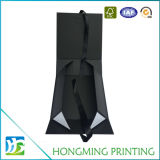 Wholesale Logo Embossed Black Rigid Collapsible Box