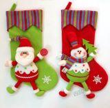 2017 Breathable Stripes Cotton Christmas Stockings