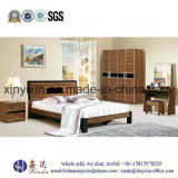 Modern Simple Double Bed Wood Bedroom Furniture (SH-003#)