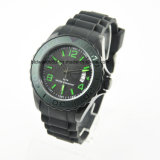 Popular Waterproof Japan Movt Silicone Watches for Promotion Gift