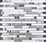 Random Strip Glass and Aluminium Mosaic Tile