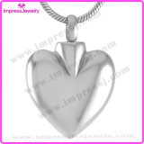 High Polish Heart 316L Stainless Steel Cremation Pendant Necklace Ashes Keepsake Holder (IJD9692)