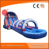 2017 Latest Double Lane Inflatable Water Slide with Pool T11-100
