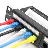 19 Inch Unshielded Cat 6 Network Patch Panel Fluke Test in 24 Ports