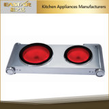 Ce RoHS Approval Double Burners Infrared Cooker Es-3201 C Ceramic Stove
