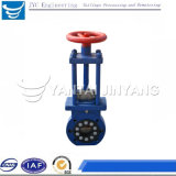 Flange Type Knife Gate Valve with Hand Wheel Wholesale
