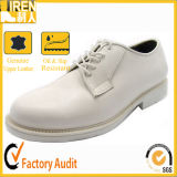 Durable Genuine Leather Military Army Men White Office Shoes