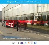 40FT 3 Axle 30.5 Tons Truck Trailer Skeleton Container Chassis