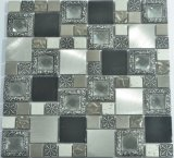 Glass mosaic Mixed in Metal Glass for Wall Decoration