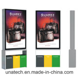 Outdoor Advertising Metal Frame Public Dustbin Solar Scrolling Billboard LED Light Media Box