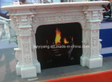 Stone Carved Fireplace for Indoor Decoration
