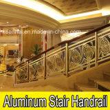 Luxury Hotel Lobby Staircase Aluminum Copper Stair Handrail