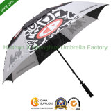 Fiberglass Windproof Double Canopy Golf Umbrellas with Printed Logos (GOL-0030FD)