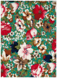 Flowers in PVC Cotton Fabric for Winter and Spring Fashion Bag (CK10SP-021)