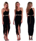 OEM Plus Size Long Maxi Summer Beach Women Chiffon Dress