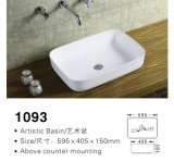 Thin Side Top Mounting Ceramic Basin/Ceramic Sink/Porcelain Basin/Porcelain Sink