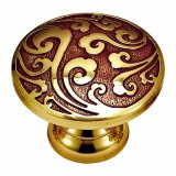 Antique Style Forged Brass Drawer Pull Handle and Knob