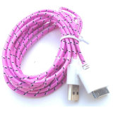 Fabric Nylon Braided USB Cable for iPhone4 (NM-USB-218)