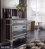 Modern Living Mirrored Furniture Drawer Cabinet