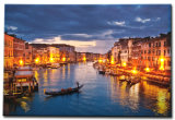 Wholesale 2016 Latest LED Light Oil Paintings on Canvas European Town