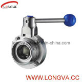 316L Sanitary Threaded Butterfly Valve
