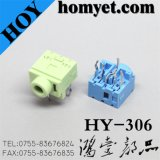 High Quality Manufacturer 3.5 Mm Phone Jack with DIP Type (HY-306)