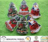 Compressed Promotional Christmas Tree Shape Gift Bath Towel