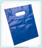 HDPE Carrier Punch Hole Handle Shopping Plastic Die Cut Bag