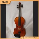 Professional Solid Spruce Flamed Maple Violin with Oblong Violin Case