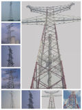 Power Transmission Line Steel Angle Tower