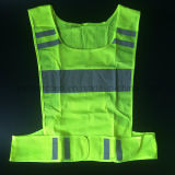 Free Sample Yellow Reflective Safety Running Vest for Road Safety Protection