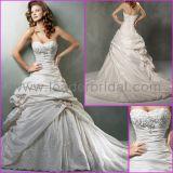 A-Line Sweetheart Taffeta Lace Rhinestones Bridal Dresses Mg560