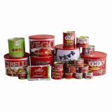 70 G to 4.5 Kg Double Concentrated Canned Tomato Paste with Red Color