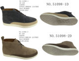 No. 51098 Men′s Shoes Leather Shoes Gray and Khaki