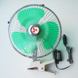 DC12V 9 Inch with Clip 60 Strips Metal Car Fan