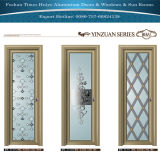 Aluminum Interior Bathroom Door with Different Glazing