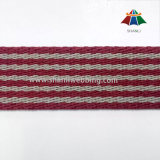 30mm Twill Woven Striped Cotton Polyester Webbing