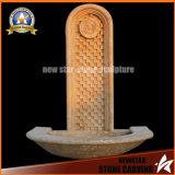 Beige Marble Stone Carving Wall Fountain (NS-P429)