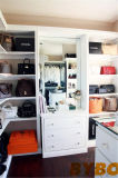 Closet Island with White Rosette Drum Pendant Lights (BY-W-26)