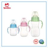 Arc Shape Plastic Baby Milk Bottle in Wide Neck