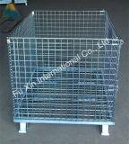 Rolling Mesh Wire Steel Pallet Metal Storage Cage