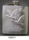 Embossing Hip Flask Gift for Outdoor