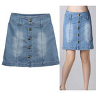 Hot Sale Sexy Women Wasted Mini Blue Skirt