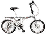 Ce Popular 20inch Folding Bike Shimano Disk Brake Silver Foldable Bicycle Easy Outdoor Scooter
