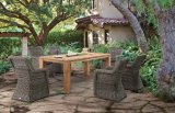 Rattan Garden Teakwood Valencia / Dorado Dining Table Outdoor Patio Wicker Furniture (J641)