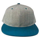 Snapback Caps with Flat Peak with Plastic Strap with Woolen Crown (1402A)