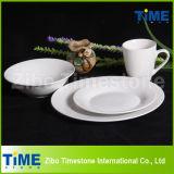 Round Super White Porcelain Dinner Set