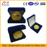 Custom Embossed Car Logo Souvenir Metal Coin with Packing Box